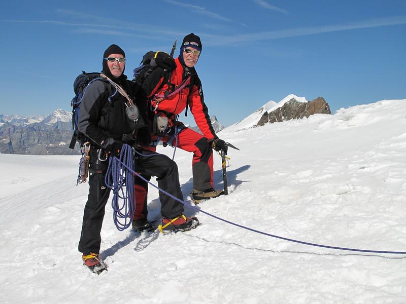 ascent to Roccia Nera 4075m. (Roccia Nera 4075m. Breithornmassif, Wallis 2009 Switzerland/Italy                                )