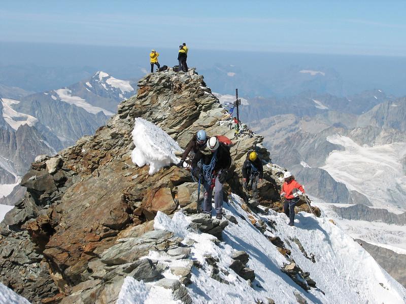 the lower Italian summit 4476m. ( Matterhorn 4478m. Wallis 2009, Switzerland )