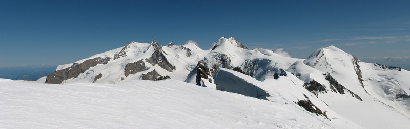 panorama view from the Central Breithorn (Breithornmassif, Wallis 2009 Switzerland/Italy)