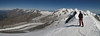 panorama view from the West Breithorn 4164m. (Breithornmassif, Wallis 2009 Switzerland/Italy)