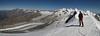 panorama view from the West Breithorn 4164m. (Breithornmassif, Wallis 2009 Switzerland/Italy)