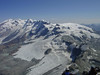 view on the Breithorn- and Monte Rosa massif (   Matterhorn 4478m. Wallis 2009, Switzerland                )