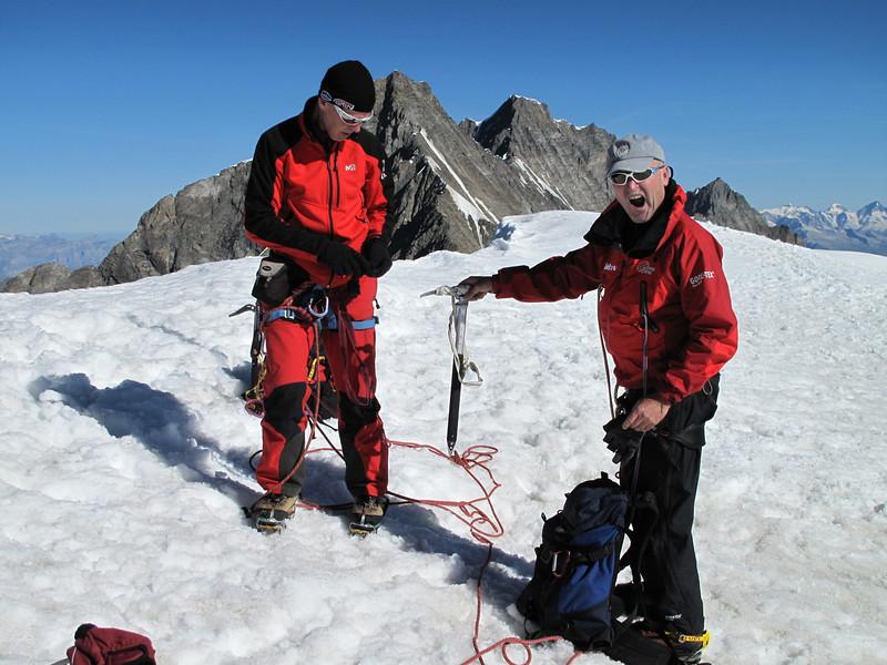Summit of Alphubel, 4206m. Wallis 2009 Switzerland