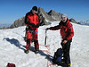 Summit of Alphubel, 4206m. Wallis 2009 Switzerland