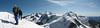 panoramaview from the Roccia Nera 4075m. (Roccia Nera 4075m. Breithornmassif, Wallis 2009 Switzerland/Italy )