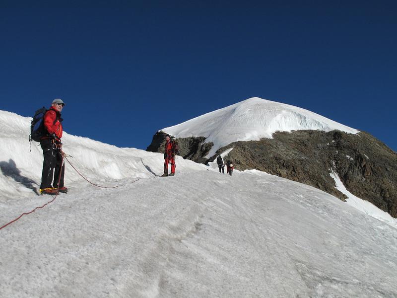 Alphubeljoch 3773m. - Alphubel nase (Alphubel, 4206m. Wallis 2009 Switzerland)