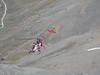 Rescue helicopter of Air Zermatt to rescue Paul Klok after a rock-avalanche ( Matterhorn 4478m. Wallis 2009, Switzerland)