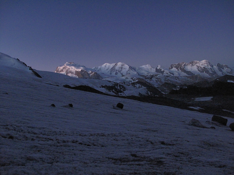 Alphubel glacier (Alphubel, 4206m. Wallis 2009 Switzerland)