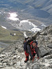 Ridge traverse of to the Schönbielhorn 3472m. (Schönbielhorn 3472m. Wallis 2009 Switzerland                                )