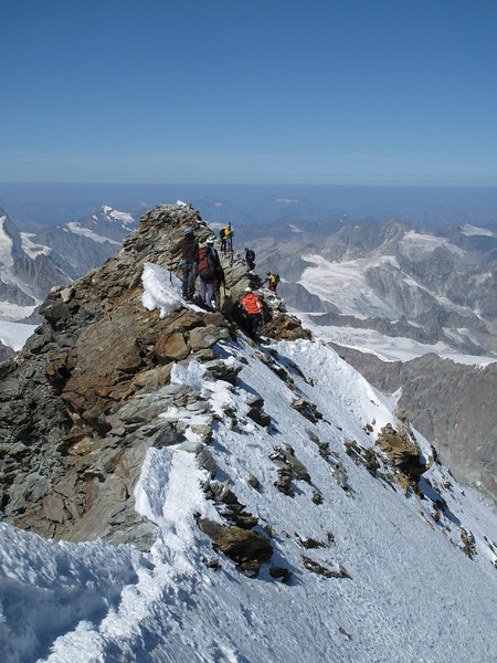 Italian summit Matterhorn 4476 m. (Matterhorn 4478m. Wallis 2009, Switzerland)
