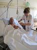Visiting Paul in the Hospital of Visp (Hospital Visp, Wallis 2009, Switzerland                             )