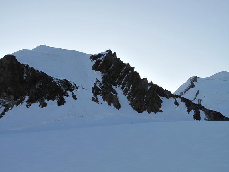 Pollux 4092m. Rockclimbing on the ridge and snow-walking to the summit (Pollux 4092m. Wallis 2009, Switzerland)