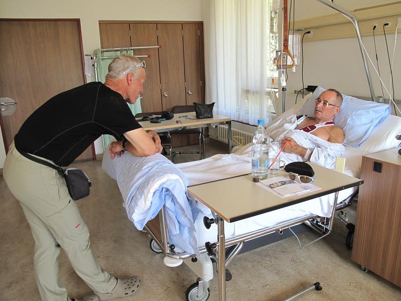 Visiting Paul in the Hospital of Visp ( Hospital Visp, Wallis 2009, Switzerland                              )