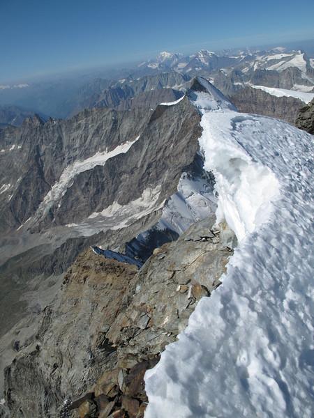 Summit of the Matterhorn 4478m. ( Matterhorn 4478m. Wallis 2009, Switzerland                              )