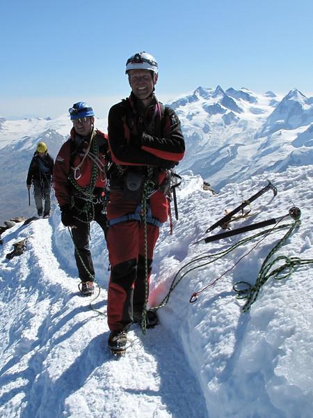 Summit Matterhorn 4478m. ( Matterhorn 4478m. Wallis 2009, Switzerland                             )