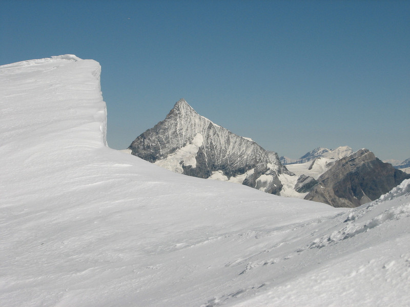view on the Weisshorn 4505m. (Breithornmassif, Wallis 2009 Switzerland/Italy )