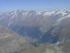 view in the depth on Zermatt 1672m. ( Matterhorn 4478m. Wallis 2009, Switzerland                          )