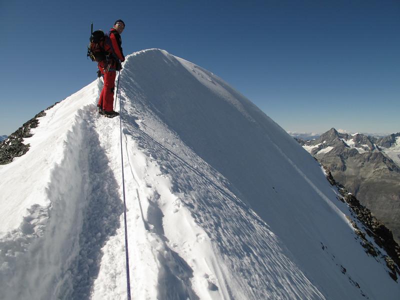 the ascent of the West Breithorn 4164m. (Breithornmassif, Wallis 2009 Switzerland/Italy)