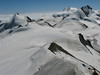 View on: Allalinhorn 4027m. Strahlhorn 4190m. and Rimpfischhorn 4199m. (Alphubel, 4206m. Wallis 2009 Switzerland )