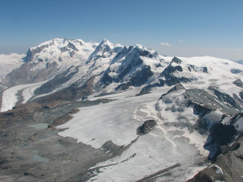 view on the Monte Rosa massif ( Matterhorn 4478m. Wallis 2009, Switzerland )