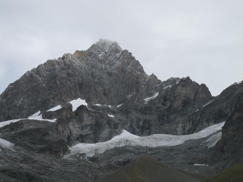 new snow on the Ober Gabelhorn (Schönbielhorn 3472m. Wallis 2009 Switzerland                                )