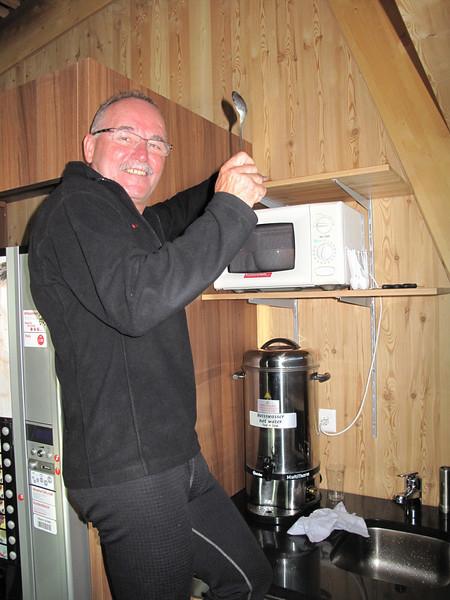 Paul, the cook (the liftstation of the Klein Matterhorn 3817m. Breithornmassif, Wallis 2009 Switzerland                                )