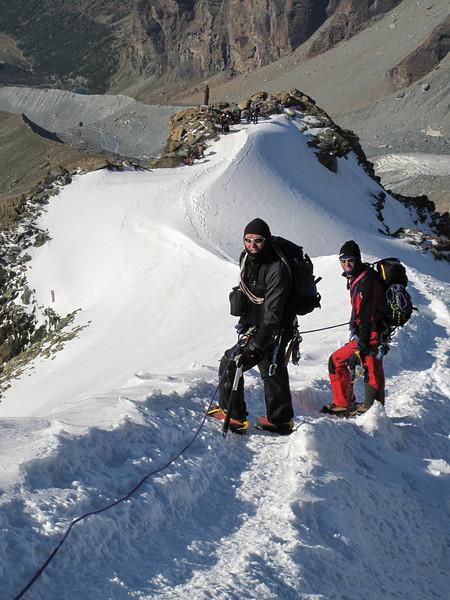 descent of the Pollux 4092m. (Pollux 4092m. Wallis 2009, Switzerland                                )