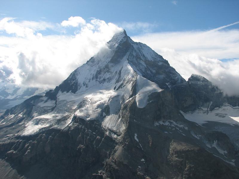 view on the Matterhorn 4478m. (Zmuttgrat) (Schönbielhorn 3472m. Wallis 2009 Switzerland )