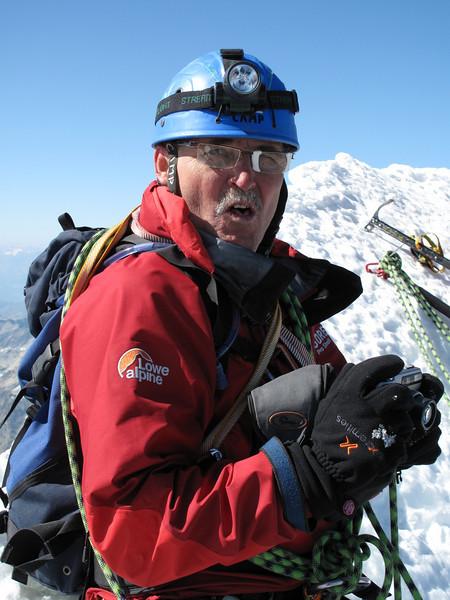 Paul Klok ( Matterhorn 4478m. Wallis 2009, Switzerland                                )