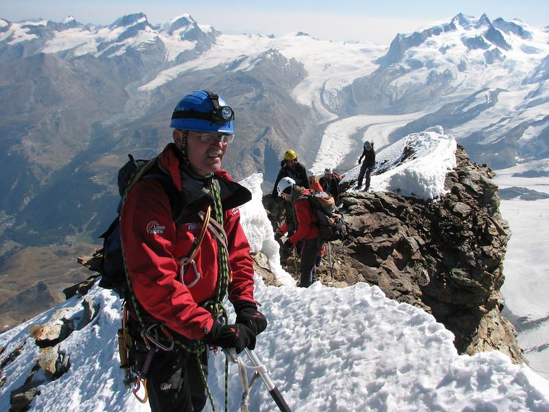 Paul, summit Matterhorn 4478m. (Matterhorn 4478m. Wallis 2009, Switzerland)