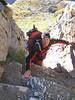 climbing in the route Schönbielhutte SAC 2694m - Cabane de la Dent Blanche CAS 3507m