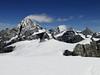 Dent Blanche 4357m Weisshorn 4545m, Zinalrothorn  4221m and Obergabelhorn 4063m.