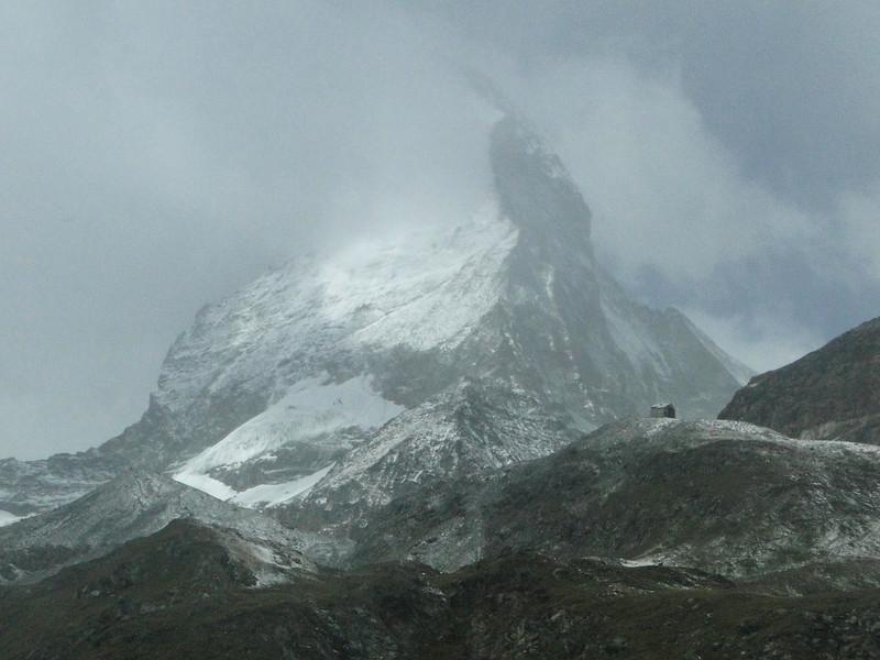 foggy view at the Matterhorn 4478m.