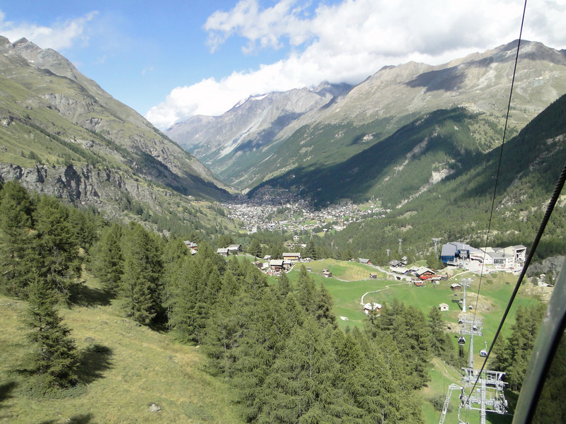 cable car Zermatt 1650m - Klein Matterhorn