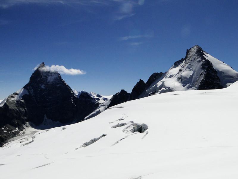 Matterhorn 4478m and Dent d'Herens 4171m
