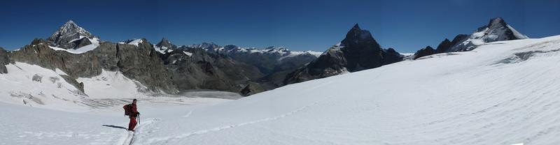 Dent Blanche, Obergabelhorn, Michabel group, Matterhorn and Dent d'Herens