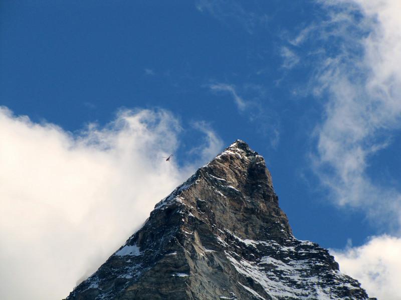 Helicopter near Matterhorn summit