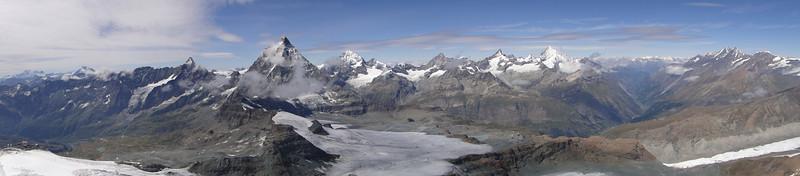 panorama of the mountains of Wallis, Switzerland