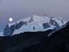 Monte Rosa massif in moonlight
