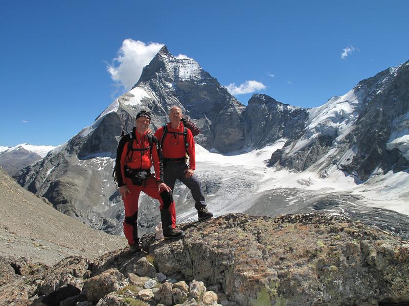 Zmutt- and Lion ridge of the Matterhorn and part of Dent d' Herens
