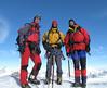 summit Castor 4226m, Marijn, Frank and Rogier