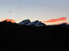 sunrise in Wallis, in the background: Allalinhorn 4027m, Rimpfischhorn 4199m, Strahlhorn 4190m with small top, the Adlerhorn