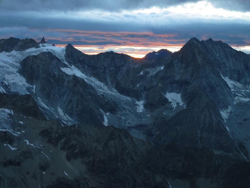 sunset at Cabane de la Dent Blanche CAS 3507m