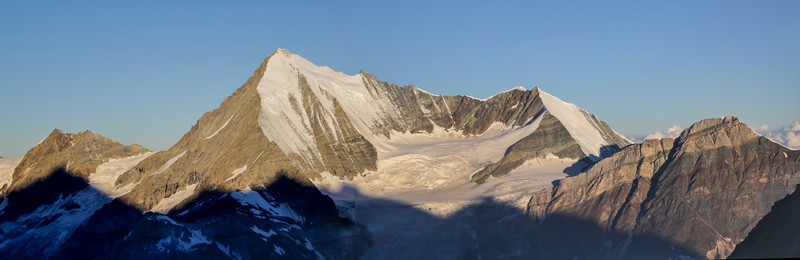 view at Weisshorn and Bischhorn