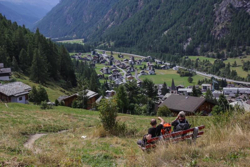 view at Randa, Mattertal.