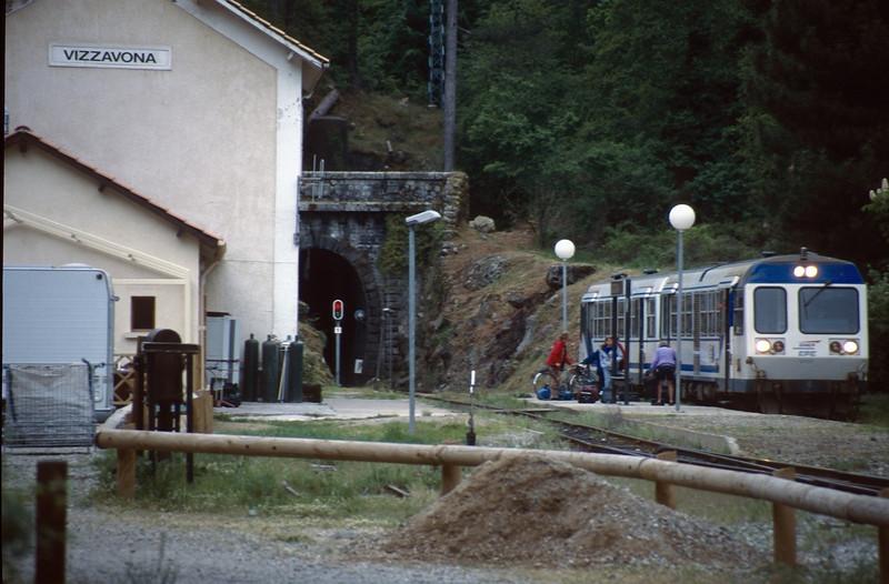 railway station Vizzavona (GR20  Corsica, France 2003)