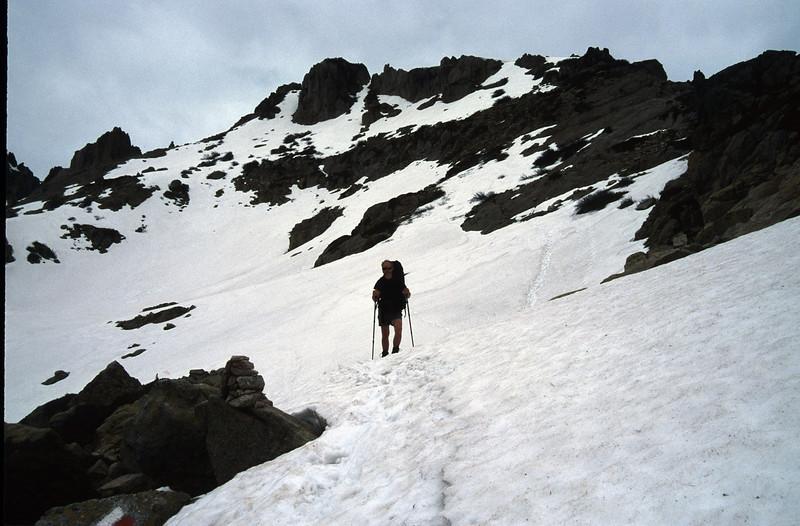 many snow, 2080m. (GR20  Corsica, France 2003)