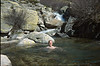 bath with cold water (GR20  Corsica, France 2003)