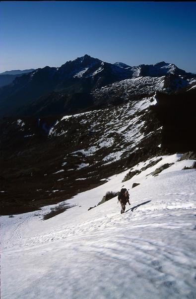 route via Lac de Rinosa and Punte Alle Porta 2315m.and Breche de Capitello (GR20  Corsica, France 2003)