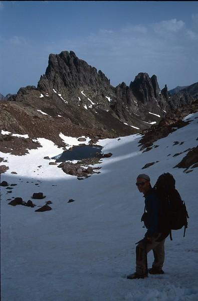 view Bocca minuta from Col Perdu (GR20  Corsica, France 2003)